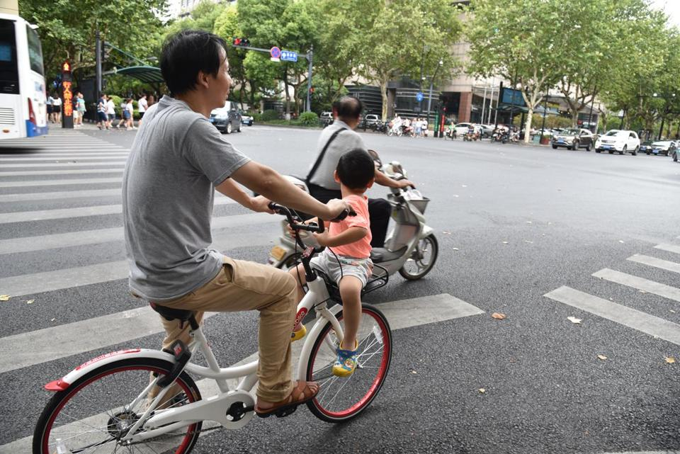 Bikes are still a popular mode of transportation in Beijing and other cities.